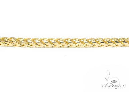 18K Gold Franco 28 Inches 4mm 111.2 Chain 41175 Gold