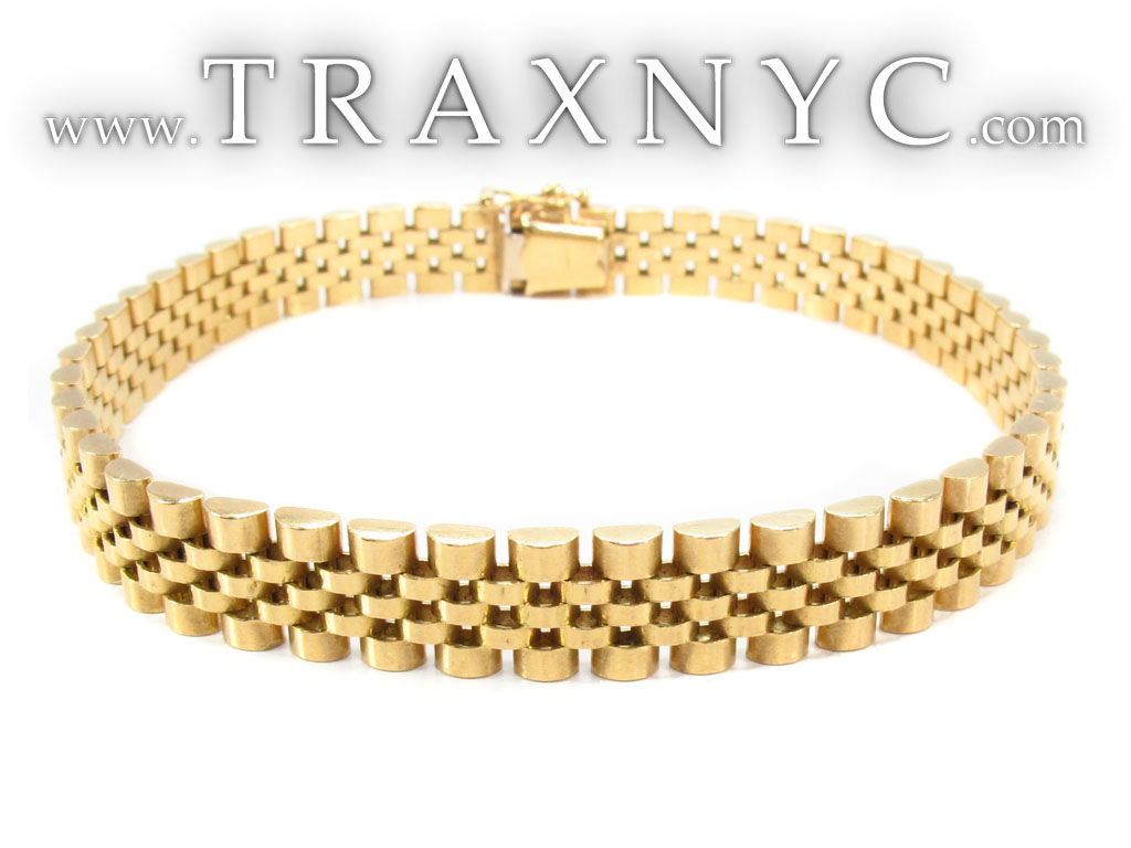 18K Gold Rolex Jubilee Style Bracelet Gold Mens Bracelet ...