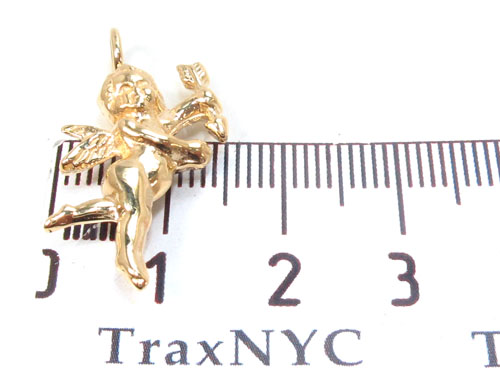18K Yellow Gold Angel Pendant 34382 Metal