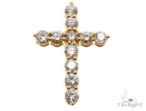 18K Yellow Gold Diamond Cross 64575 メンズ ゴールド クロス