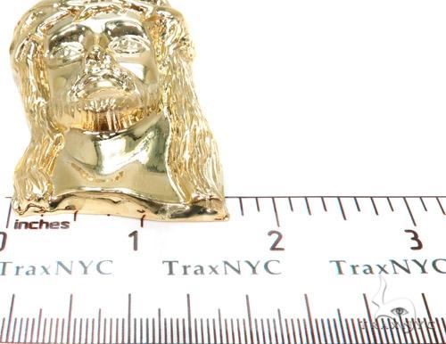 Solid 18k Gold Jesus Pendant  37482 Metal