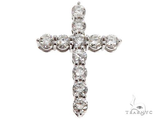 18k White Gold Diamond Cross Pendant 64576 メンズ ダイヤモンド クロス