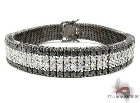 Black and White Diamond Paulie Bracelet 2 Mens Diamond Bracelet