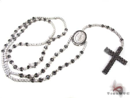 Black and White Gold Diamond Rosary Diamond Gold Rosary Chains