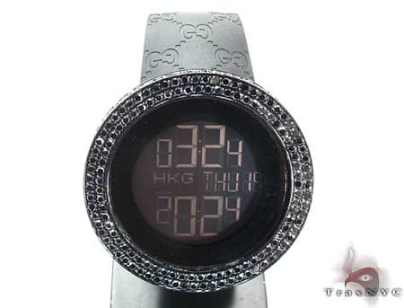 Black Diamond Gucci Watch YA114207 Gucci