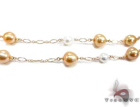 Ladies Pearl Necklace 19037 Diamond