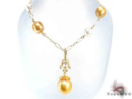 Ladies Pearl Necklace 19037 Diamond