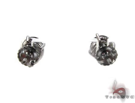 Royal Black Diamond Earrings Stone