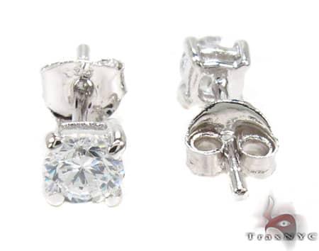 Sterling Silver Stud Earrings Metal