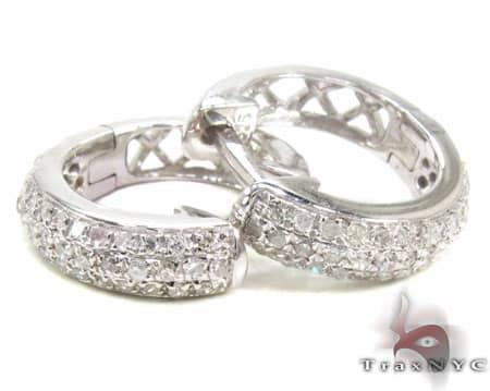 Ladies Sterling-Silver Earrings 19048 Metal