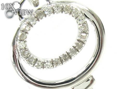 Ladies Diamond Key Pendant 19050 Stone