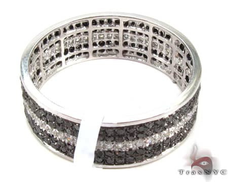 5 Row White Strip Ring Stone