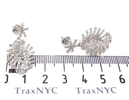 Ladies Diamond Earrings 19087 Stone