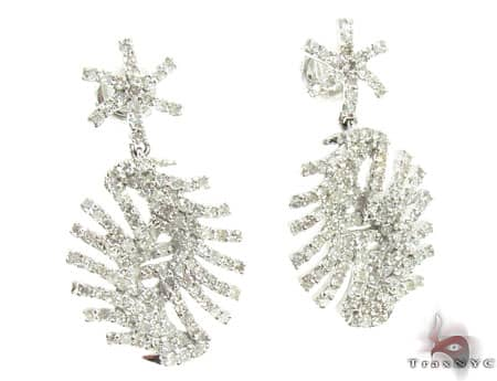 Ladies Diamond Earrings 19087 Stone