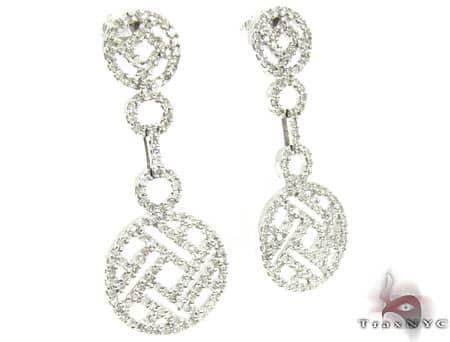 Ladies Diamond Earrings 19089 Stone