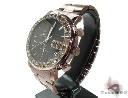 Brown Gucci 101G Chrono Watch YA101341 Gucci