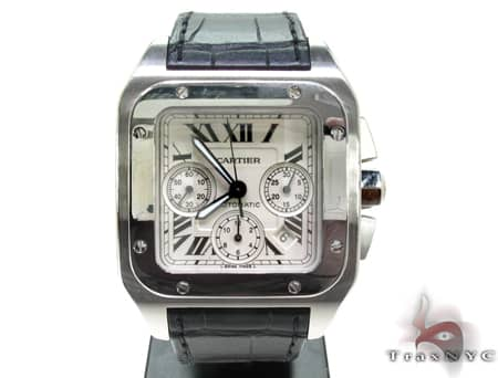 Pre-Owned Cartier Santos 100 Chronograph Watch Cartier