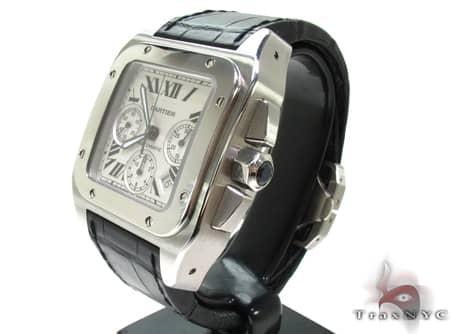 Pre-Owned Cartier Santos 100 Chronograph Watch Cartier