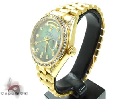 Rolex Day-Date Yellow Gold 218348 Diamond Rolex Watch Collection