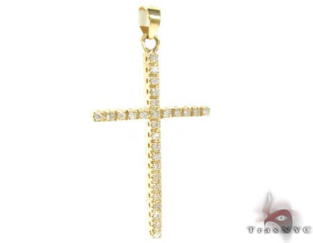 Ladies Diamond Cross 19257 Style