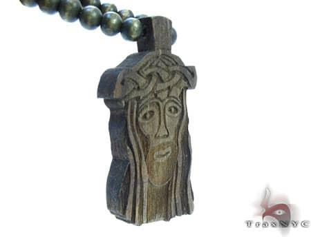 Small Brown Wood Jesus Piece