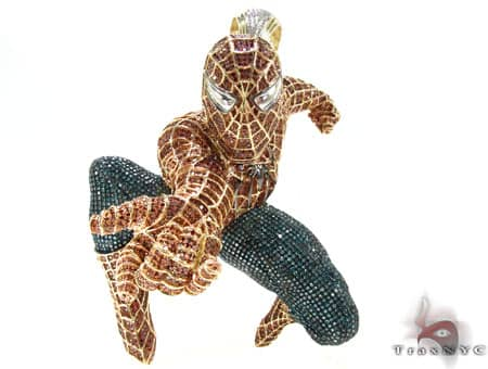 Custom Jewelry - Spiderman Pendant Metal