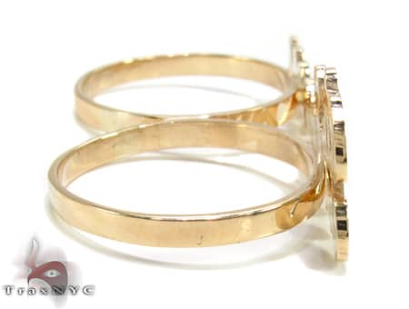 14K Yellow Gold & Diamond Princess Script Ring Anniversary/Fashion