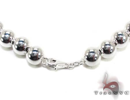 Silver Bead n 16 Inches, 12mm, 75.2 Grams Silver