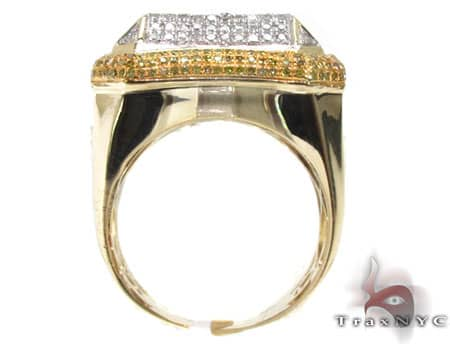 14K Gold Multi Color Octagon Ring Stone