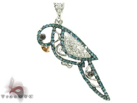 Diamond Parrot Pendant Stone