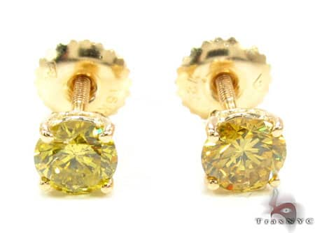 Canary VS Studs La s Style Yellow Gold 18k