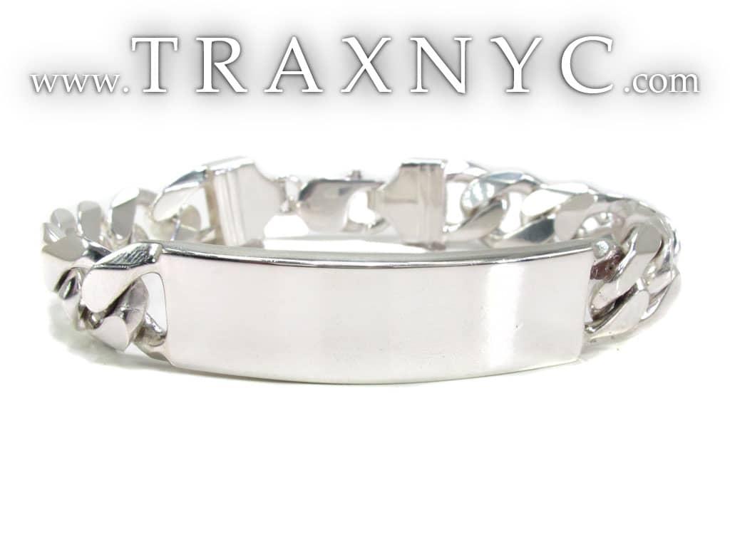 sterling silver id bracelet 19537 mens sterling silver