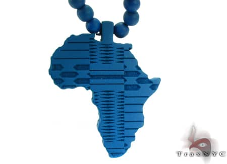 Blue Africa Wood Pendant