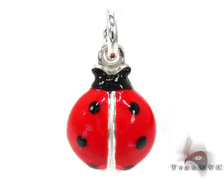 Childs Silver Lady Bug Pendant 19589 Metal
