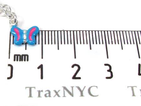 Childs Silver Enamel Butterfly Bracelet 19597 Silver & Stainless Steel