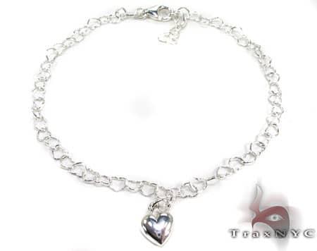 Ladies Silver Heart Bracelet 19606 Silver & Stainless Steel