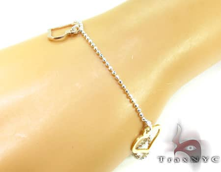 Ladies Silver Heart Charm Bracelet 19608 Silver & Stainless Steel