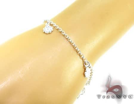 Ladies Silver Charm Bracelet 19612 Silver & Stainless Steel