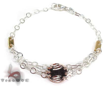 Ladies Silver Bracelet 19615 Silver & Stainless Steel