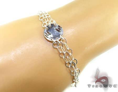 Ladies Silver Bracelet 19615 Silver & Stainless Steel