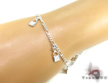 Ladies Silver Charm Bracelet 19616 Silver & Stainless Steel
