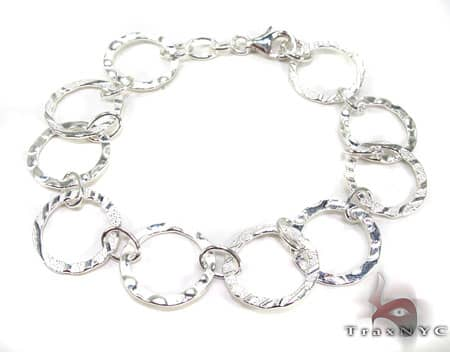 Ladies Silver Bracelet 19619 Silver & Stainless Steel