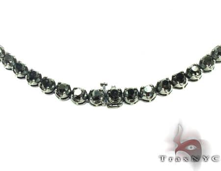 Black Diamond Chain 32 Inches 7mm 98.8 Grams Diamond