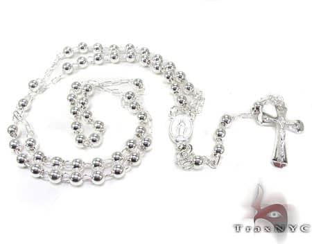 Small Silver Rosary Chain Silver