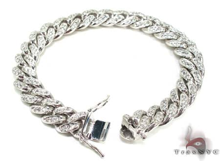 Diamond Miami Link Bracelet Diamond