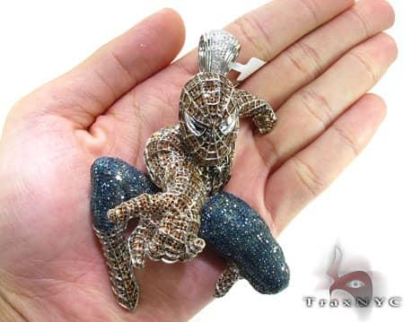 Custom Jewelry - White Gold Spiderman Pendant Metal