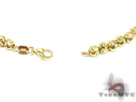 Yellow Gold Moon Cut Chain 16 Inches 3mm 14.8 Grams Gold