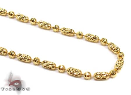 Thin Moon Cut Chain 22 Inches 2mm 7.5Grams Gold