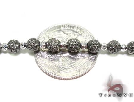Black Rhodium Moon Cut Chain 22 Inches 5mm 24.6 Grams Gold