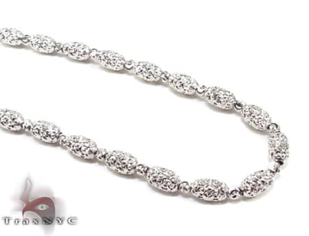 Moon Cut Chain 16 Inches 4mm 12.4 Grams Gold